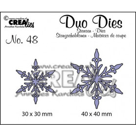 Dies no. 48 Duo Snowflake - Crealies