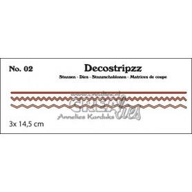 Decostripzz dies no. 02 Zig Zag - Crealies