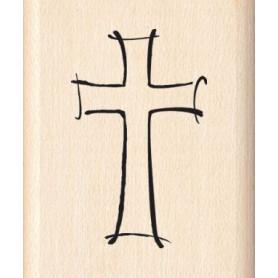 Tampons bois Jazzy Style Cross - Inkadinkado