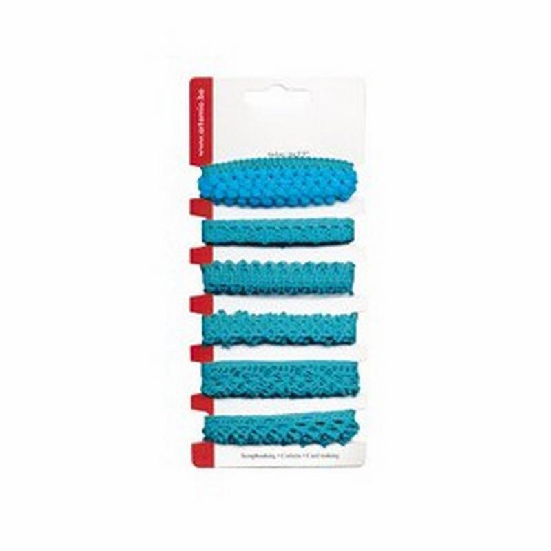 Ruban dentelle Turquoise 6x1 m – Artemio