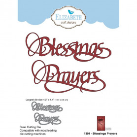Dies Blessings Prayers 2 pc - Elizabeth Craft Designs