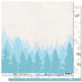 Papier 30x30 Jour de neige 1f - Douceur Hivernale - Les ateliers de Karine