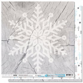 Papier 30x30 Flocon XXL 1f - Douceur Hivernale - Les ateliers de Karine