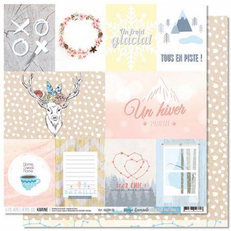 Papier 30x30 Poésie hivernale 1f - Douceur Hivernale - Les ateliers de Karine
