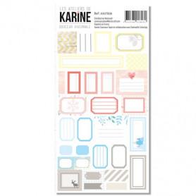 Stickers Etiquettes Douceur Hivernale - Les ateliers de Karine
