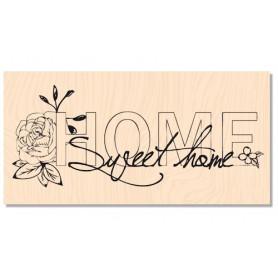 Tampon bois Home Sweet Home - Douceur Hivernale - Les ateliers de Karine