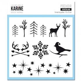 Pochoir Winterland - Douceur Hivernale - Les ateliers de Karine