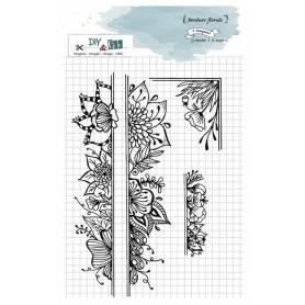 Tampons Bordure florale – Diy & Cie