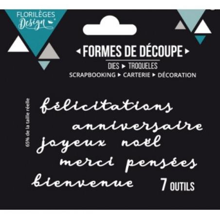 Dies Mots de carterie - Sweety Cuts – Florilèges Design