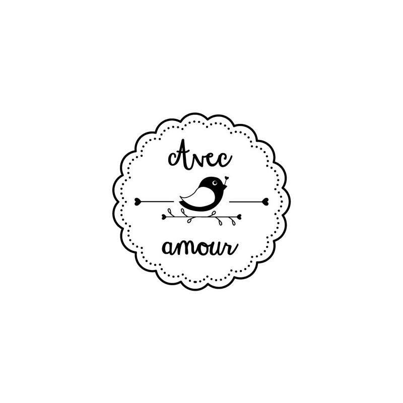 Tampon bois Avec Amour – Woodies Artemio