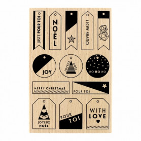 Tampon bois Mes petites étiquettes - Florilèges Design
