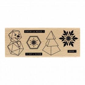 Tampon bois Petits bouts d'hiver - Florilèges Design