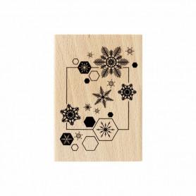 Tampon bois Envol de flocons - Florilèges Design