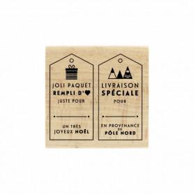 Tampon bois Livraison de Noël - Modern Christmas - Florilèges Design