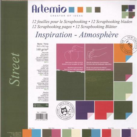 Set de papier 30x30 Street 12f – Artemio
