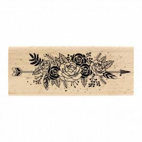 Tampon bois Fleurs et plumes - Gypsy Forest - Florilèges Design