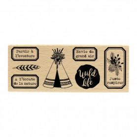 Tampon bois Wild Life - Gypsy Forest - Florilèges Design