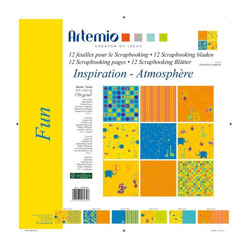 Set de papier 30x30 Fun 12f – Artemio