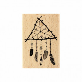 Tampon bois Attrape rêve nature - Gypsy Forest - Florilèges Design