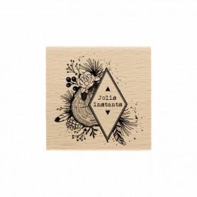 Tampon bois Instants Naturels - Gypsy Forest - Florilèges Design