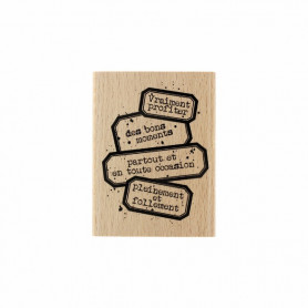 Tampon bois Vraiment profiter - Gypsy Forest - Florilèges Design