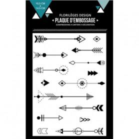 Classeur de gaufrage A6 Des flèches – Florilèges Design – Embossing folder