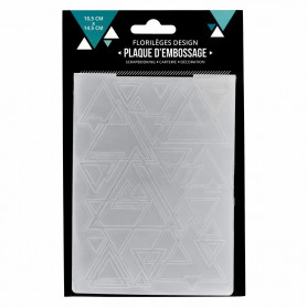 Classeur de gaufrage A6 Mix de triangles – Florilèges Design – Embossing folder