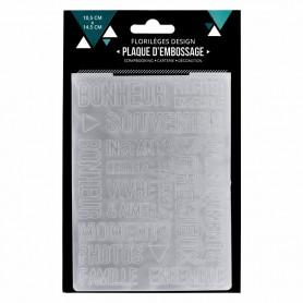 Classeur de gaufrage A6 Vivre et aimer – Florilèges Design – Embossing folder