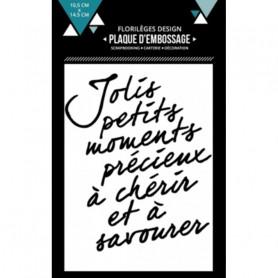 Classeur de gaufrage A6 Moments à chérir – Florilèges Design – Embossing folder