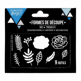 Dies Fleurs et feuillages 9p – Florilèges Design