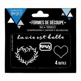 Dies Coeur à feuillages 4p – Florilèges Design