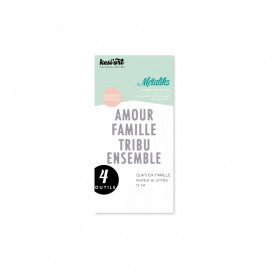 Dies métaliks Quatuor Famille - Kesi'art