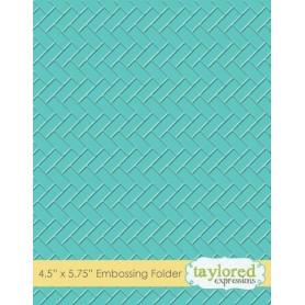 Classeur de gaufrage Herringbone - Taylored Expressions Embossing Folder
