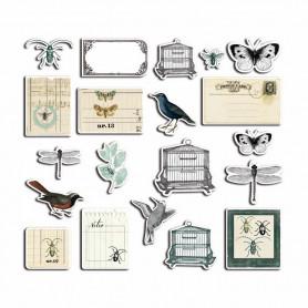 Chipboards en carton Cabinet de Curiosités 20 pc - Toga