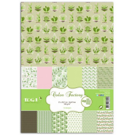 Set de papier A4 Oh my Green 48f - Color Factory Toga