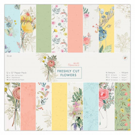 Set de papier 30x30 Freshly Cut Flowers 32 feuilles - Docrafts Papermania
