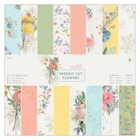 Set de papier 30x30 Freshly Cut Flowers 32 feuilles - Docrafts Papermania