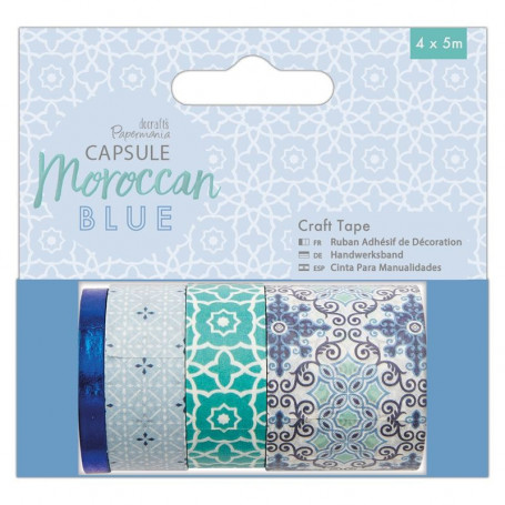 Craft Tape Moroccan Blue 4x5 m - Capsule - Docrafts Papermania