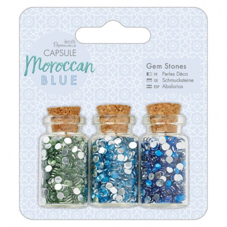 Gem Stone Bottle Moroccan Blue - Capsule - Docrafts Papermania