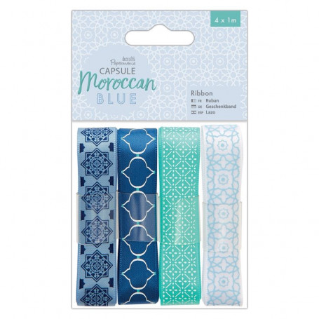 Ruban Moroccan Blue (4x1m) Capsule Collection – Docrafts Papermania