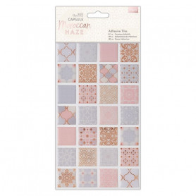 Carreaux adhésifs en résine Moroccan Haze 56pcs - Capsule Collection – Docrafts Papermania