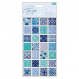 Carreaux adhésifs en résine Moroccan Blue 56pcs - Capsule Collection – Docrafts Papermania