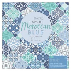 Set de papier 30x30 Moroccan Blue 32 feuilles - Capsule Docrafts Papermania
