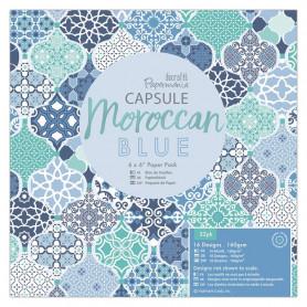 Set de papier 15x15 Moroccan Blue 32 feuilles - Capsule Docrafts Papermania