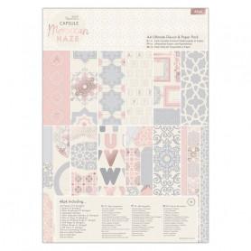 Set de papier et Die-cut A4 Moroccan Haze 48f - Capsule Docrafts Papermania