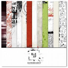 Set de papier 30x30 Amour Gloire & TV 6 feuilles - Wak'up