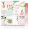 Set de papier 30x30 Melle Tendresse 6 feuilles et 1 calque - Les ateliers de Karine