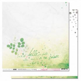 Papier 30x30 La vie est belle 1f - Mademoiselle Tendresse - Les ateliers de Karine