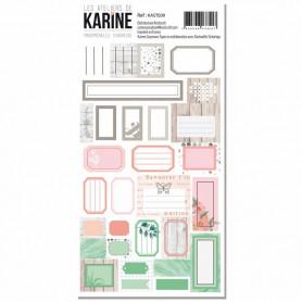 Stickers Etiquettes Mademoiselle Tendresse - Les ateliers de Karine