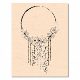 Tampon bois Cercle bucolique - Mademoiselle Tendresse - Les ateliers de Karine